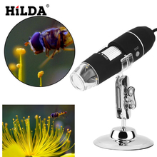 Buy HILDA Electron Microscope HD Pixel 1000X Handheld Microscope USB Portable Digital Magnifier Monocular Biological Microscope