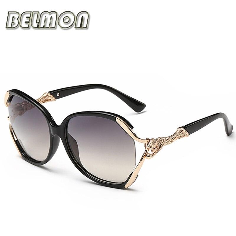 Modes saulesbrilles sievietēm luksusa zīmola dizainers leopards saulesbrilles sievietēm vintage UV400 spoguļa objektīvs RS085