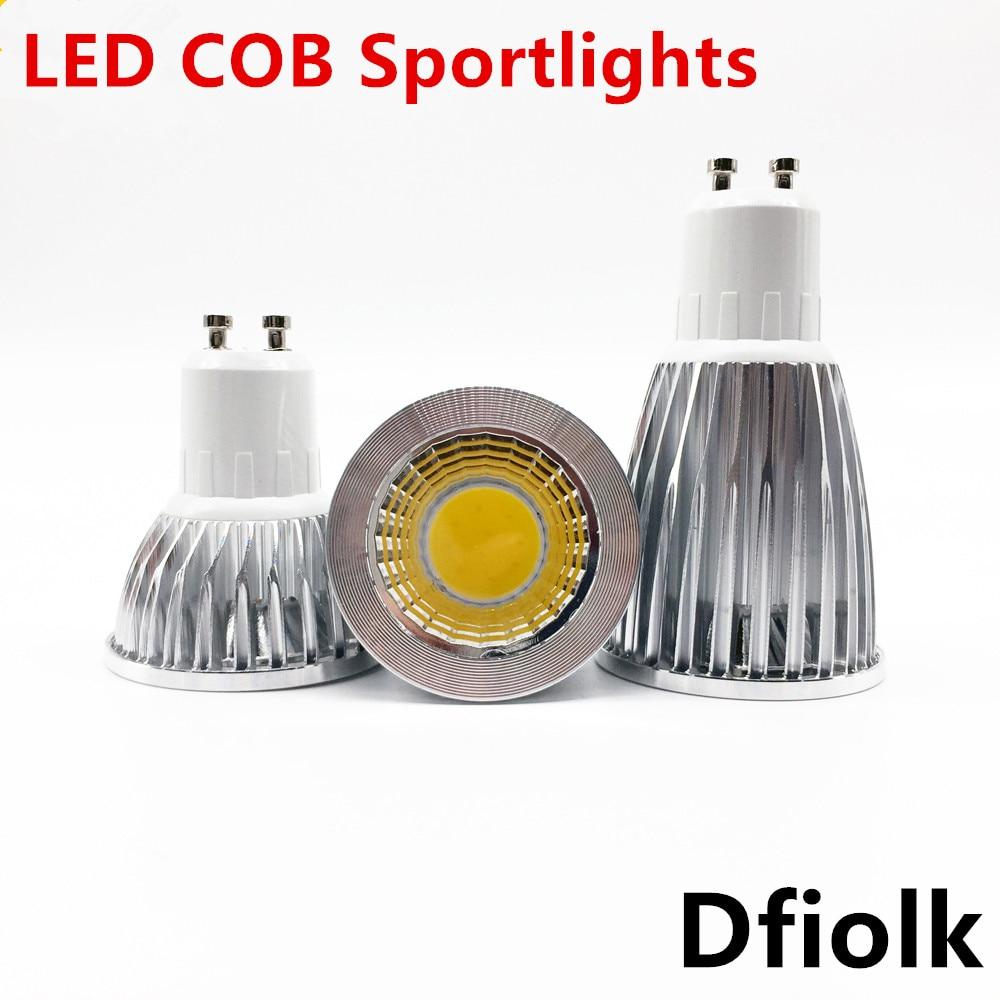 Super Bright GU10 Light Bulb Dimmable Warm / White 85-265V 6W 9W 12W GU10 COB Lamp  LED GU10/E27/E14 LED Spotlight