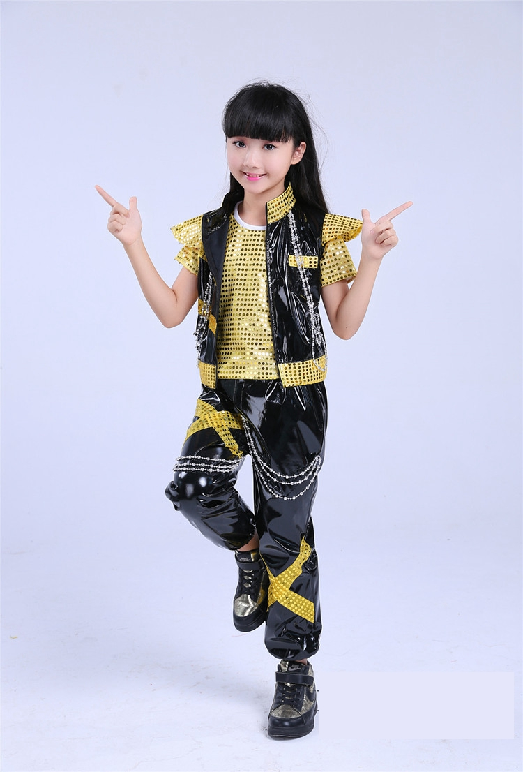 Children Shelf Drummer Boy Hip-hop Sequins Jazz Dance Stage Performance Clothing Childrens Clothing Modern Dance Performance