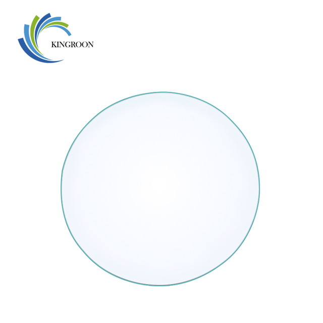 KINGRONG Round Borosilicate Glass Heated Tempered Plate 220mm 200mm 3mm Flat Transparent HeatBed 3D Printers Parts Build Plate