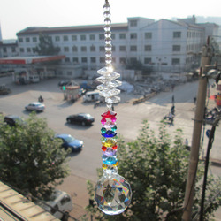 Garland Spectra 1 Rainbow Suncatcher Cut Kryształ Pendulum Chakra M02270-2 Lampy Pryzmatów Krople Wisiorki 40mm