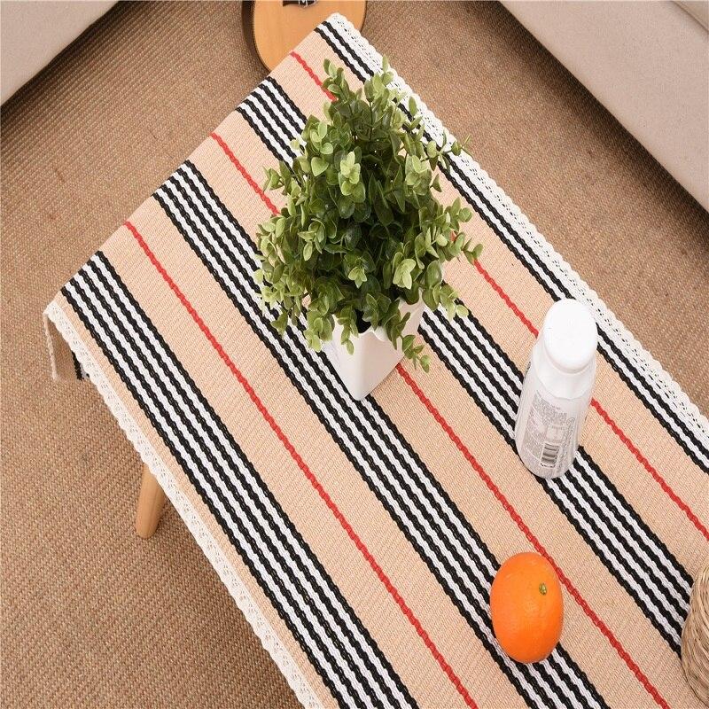 К услугам Para Меса хранения скатерть хлопок и лен ткачество Таблица Pad Чай обеденный пастырской покрытие стола ткань Полотенца