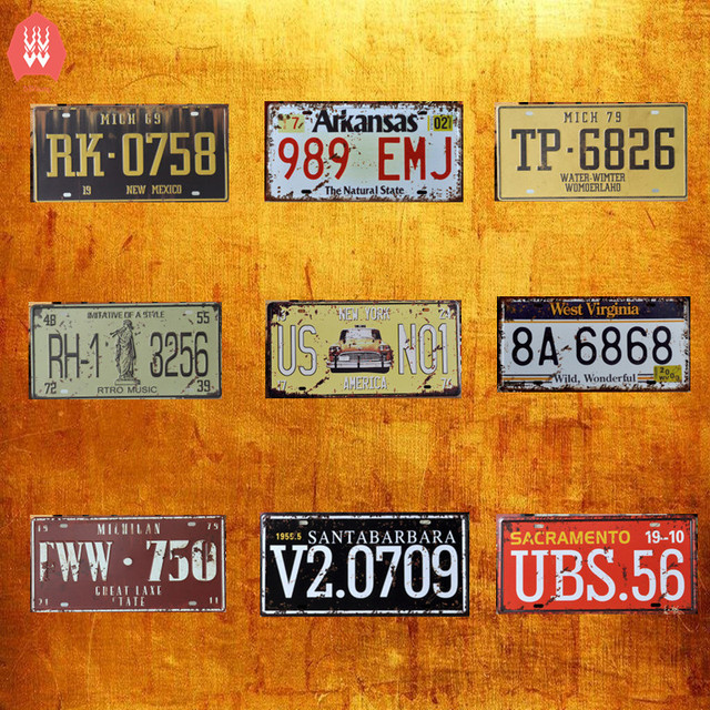 Vintage Home Decor Decorative License Plate Vintage Tin Signs Bar Pub Cafe Car Plate Plaque Metal  sc 1 st  AliExpress.com & Vintage Home Decor Decorative License Plate Vintage Tin Signs Bar ...