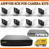 4CH 1080P CCTV System POE NVR 1080P Video Output 4Pcs POE IP Camera 720P 1 0mp