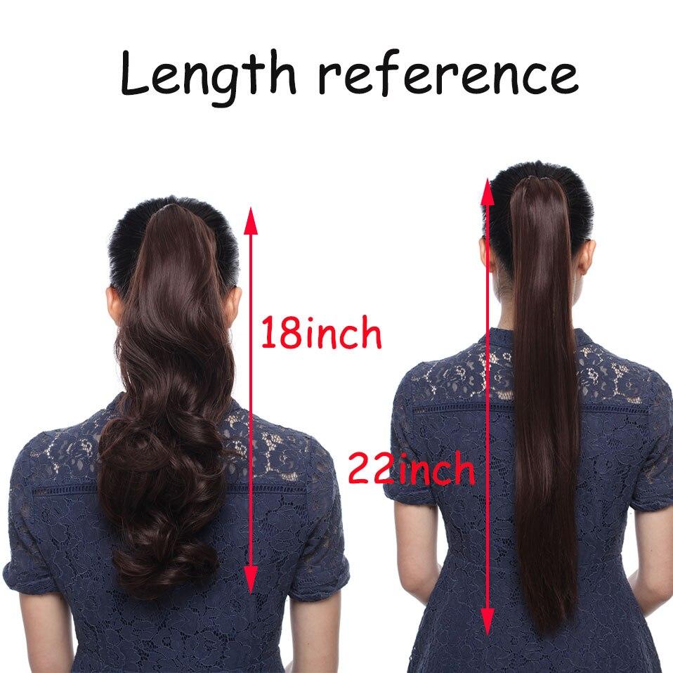 SNOILITE Syntetiska Kvinnor Kläm på Ponytail Clip i - Syntetiskt hår - Foto 6