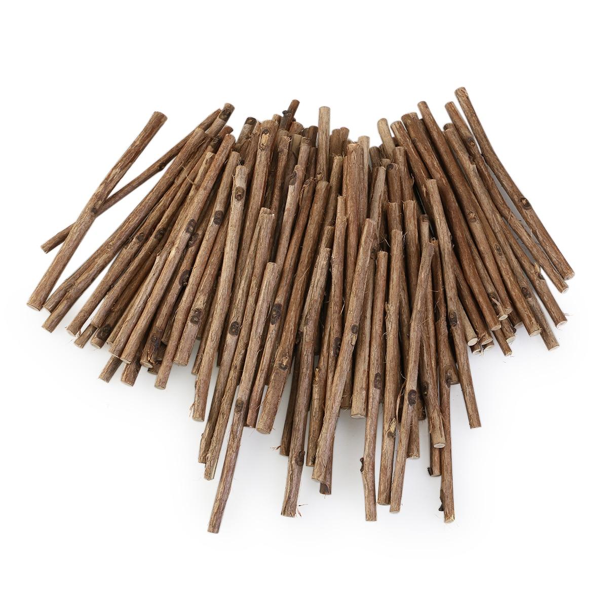 Long wooden craft sticks - 100pcs 10cm Long 0 3 0 5cm In Diameter Wood Log Sticks Diy Crafts Photo Props