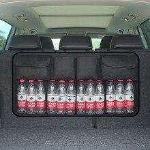 Регулируемый багажник автомобиля, организатор сиденье сумка для хранения чистая высокая Ёмкость многофункциональный Оксфорд автомобильные сиденья назад организаторы Лидер продаж