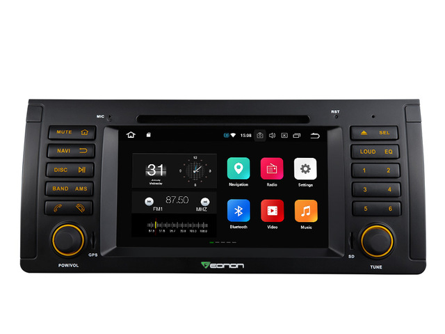 7 Octa Core 4GB RAM 32G ROM Car DVD Multimedia Navigation GPS Radio for BMW X5 E53 1999 2007 with Split Screen Mode Support