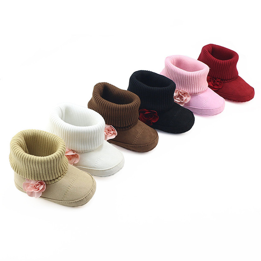 Baby Girls Winter Shoes Toddler Infant Warm Soft Sole First Walkers Cotton Shoes