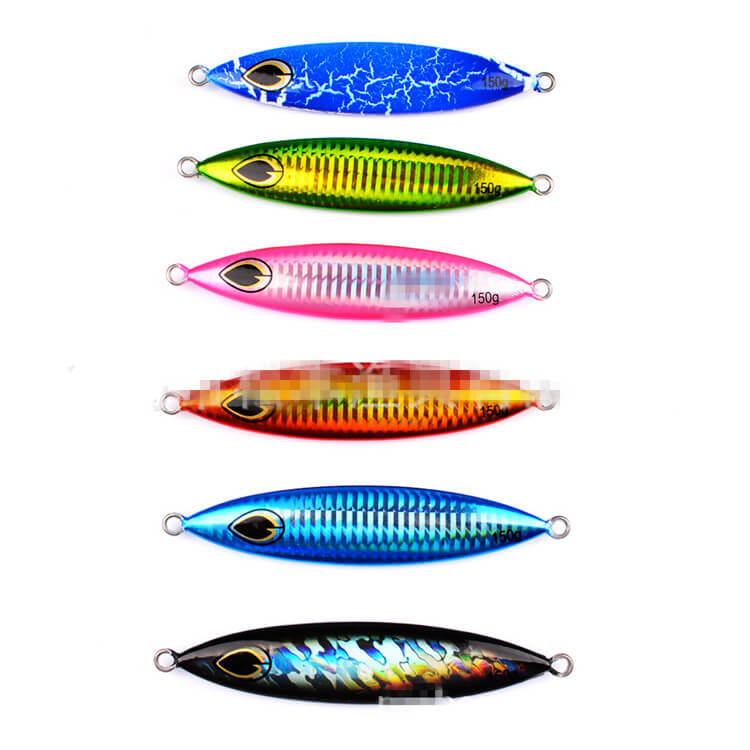 6pcs 150g/11.5cm Micro Jigs Butterfly Slow Lures Metal Knife Jigs Tuna Snapper Kingfish Crankbait Swimbait Bionic Fishing Tackle