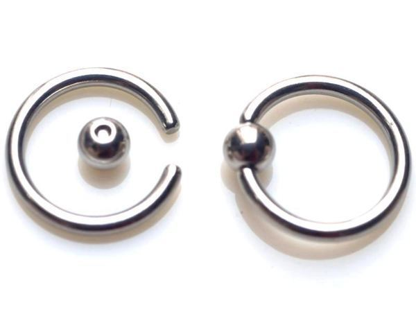 60pcs 18g Stainles Steel Bead Body Piercing Tongue Rings Ring Nose Jewelry Belly
