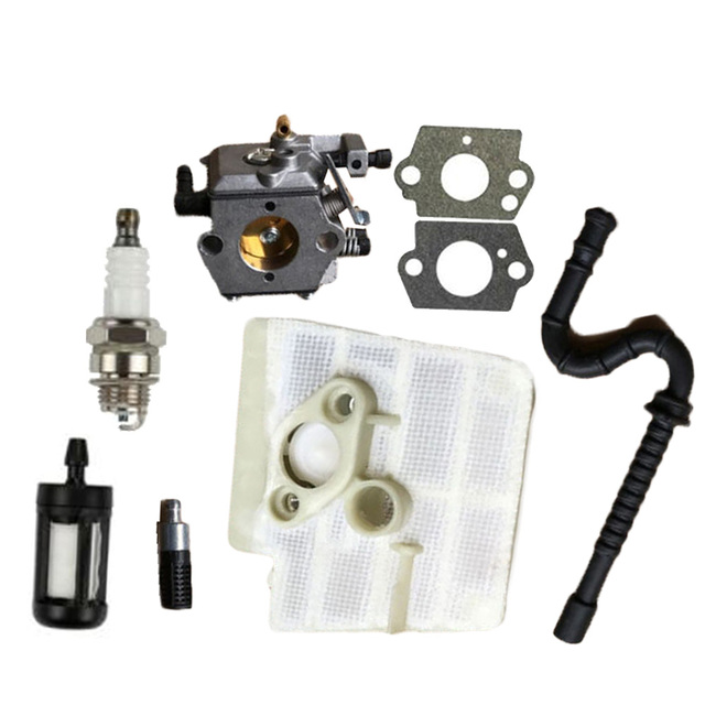 Carburetor Kit Replacement For Walbro WT 194 Stihl 024 026 MS240 MS260 W/  Air Fuel Filter