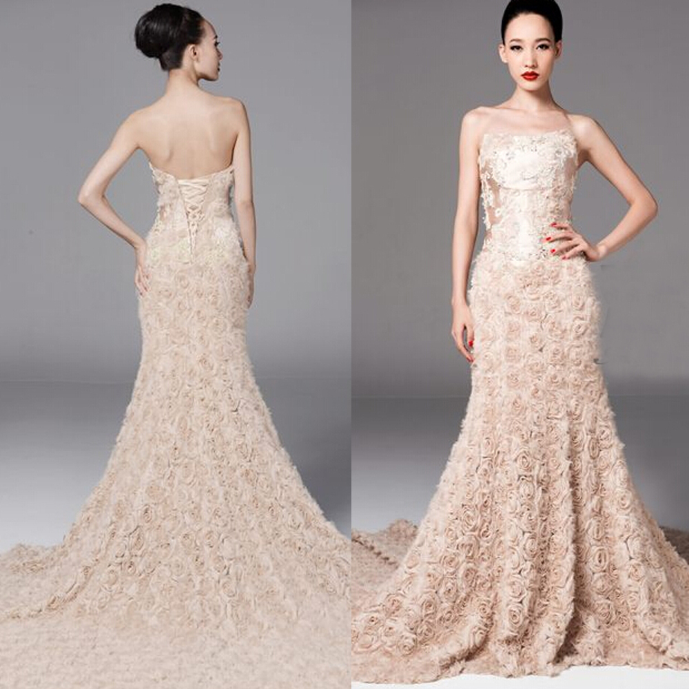 Aliexpress.com : Buy 2014 Luxury Backless Royal Train Champagne ...