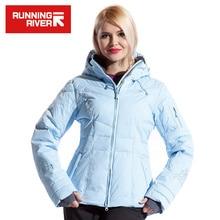 Running river marca mujeres chaqueta de esquí venta caliente de alta calidad de esquí chaquetas de la Nueva Llegada de Las Mujeres de Esquí Traje de Esquí Caliente de la Nieve Abrigo # L4985