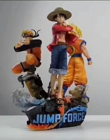 18 cm saut Force édition Collector Diorama Statue Goku Luffy Naruto Uzumaki figurines jouet Brinquedos modèle cadeau