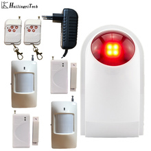 HuilingyiTech Wireless Flash Alarm Siren Home Security System House Garage 110dB Detectors Controller
