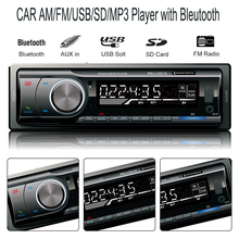 12 V Car Radio Audio Player Stereo MP3 FM Transmitter Support FM USB / SD / MMC Card Reader 1 DIN In Dash Car Electronics