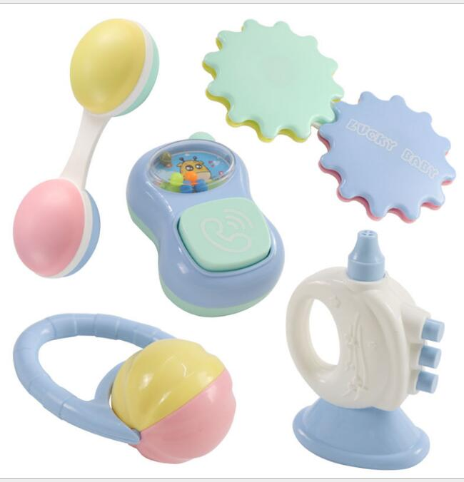 Baby Toys Hand Hold Jingle Shaking Bell Lovely Hand Shake Bell Ring Babys Rattles Toys Newborn Baby 0 12 Months Teether Toy in Baby Rattles Mobiles from Toys Hobbies