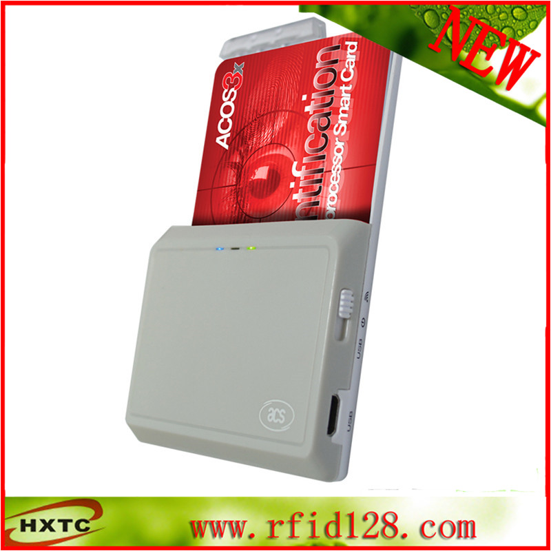 USB Smart Card Reader ACR390U1 Iso 7816 Bluetooth Contact Ic Chip Writer yongkaida best quality acr39 u uf pc sc ccid iso 7816 emv certified contact ic chip smart card reader