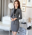 Fashion Spring Autumn Female Blazers Women Skirt Suits Jackets Sets Formal Ladies Business Suits OL Office Uniform Style Outfits