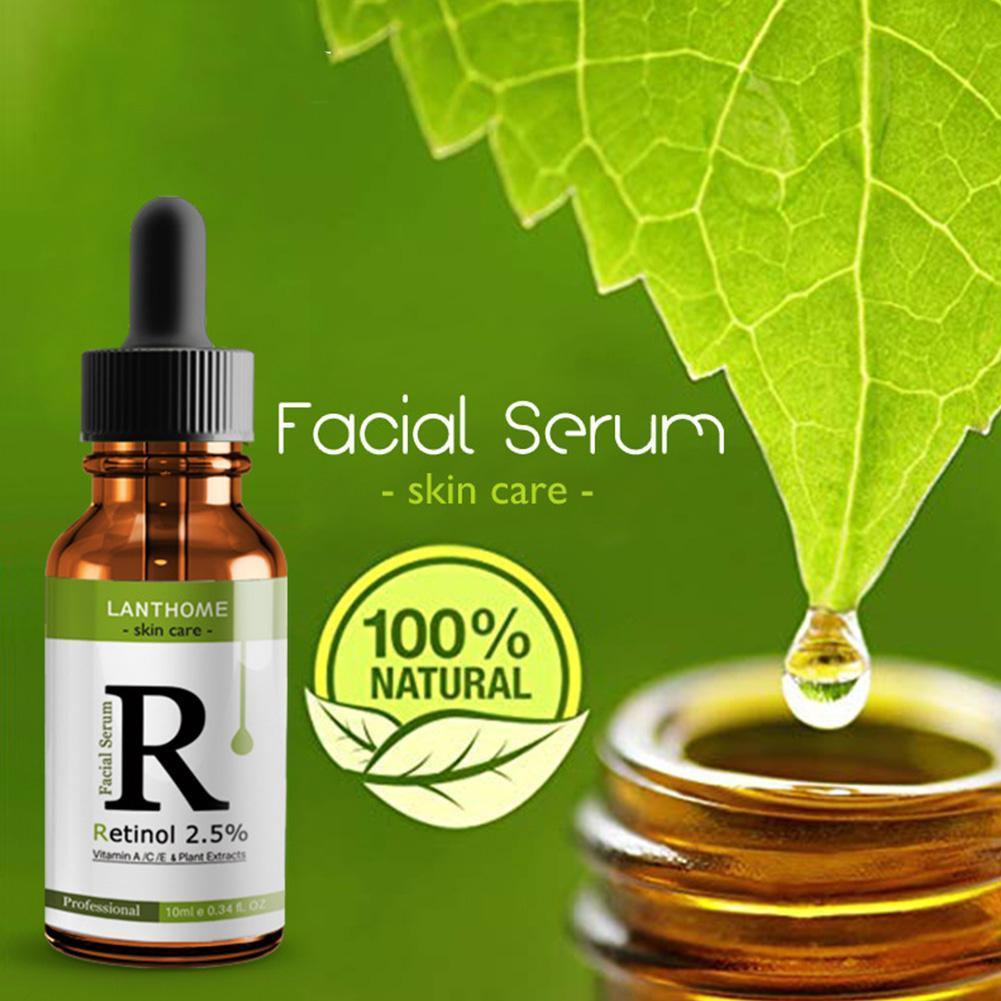 Anti Aging Whitening Face Serum Retinol 2.5% Vitamin A/C /E Facial Anti Wrinkle Serum Remove Dark Spots Collagen Serum