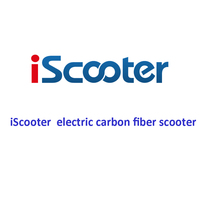IScooter Akku Electric Carbon Fiber Scooter Kick Skateboard Hoverboard 2 Steering Wheel Self Balancing Scooter 8