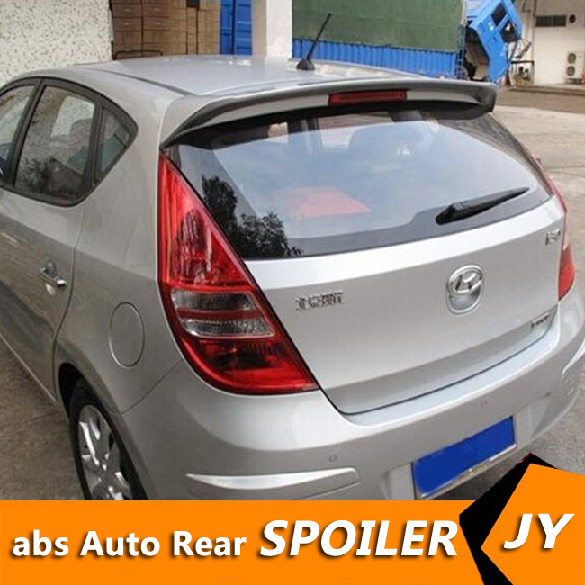 For HYUNDAI I30 Spoiler 2008-2013 I30 Spoiler High Quality ABS Material Car Rear Wing Primer Color Rear Spoiler