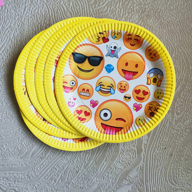 10pcs 7 inch round Emoji Face birthday Paper Plates Boys Girls Birthday Party Supplies Plates Baby & 10pcs 7 inch round Emoji Face birthday Paper Plates Boys Girls ...