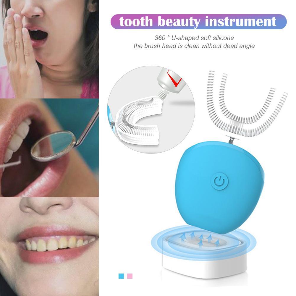 360 degrés brosse à dents électrique dents entièrement automatique fréquence Variable lumière froide dispositif de blanchiment brosse à dents automatique