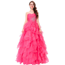 Robe de Soiree Longue Chiffon Evening Dresses Long Formal Dress Ball Gown Sweetheart Party Evening Dress 2017 Blue Red Yellow