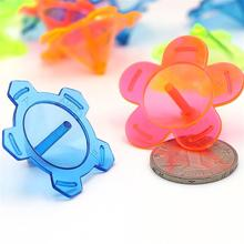 FunPa 24PCS Spinning Tops Party Gifts Random Color Plastic Mini Spin Tops Spinning Toys Kids Toys Party Favors