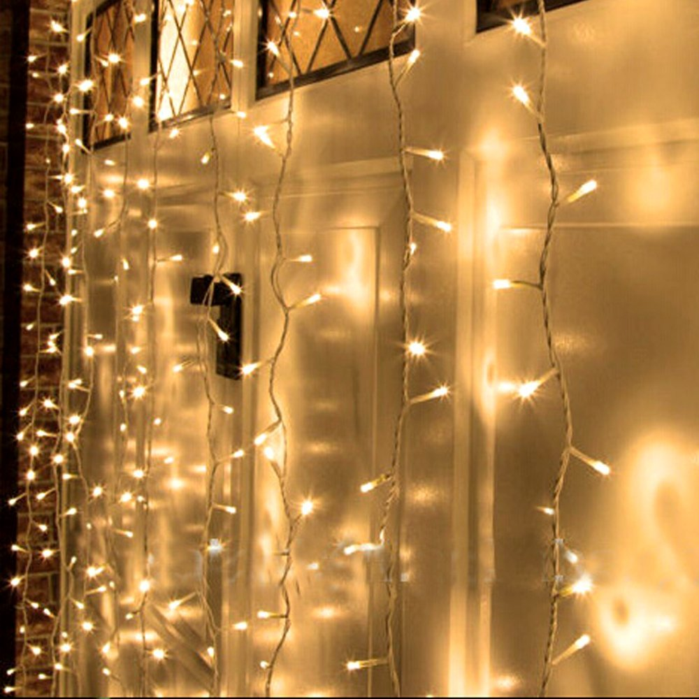 Led Light Window Curtain Icicle Lights 300led 3*3 Christmas Curtain String Fairy Wedding Lights for Party Window Decorations-in LED String from Lights ...  sc 1 st  AliExpress.com & Led Light Window Curtain Icicle Lights 300led 3*3 Christmas Curtain ...