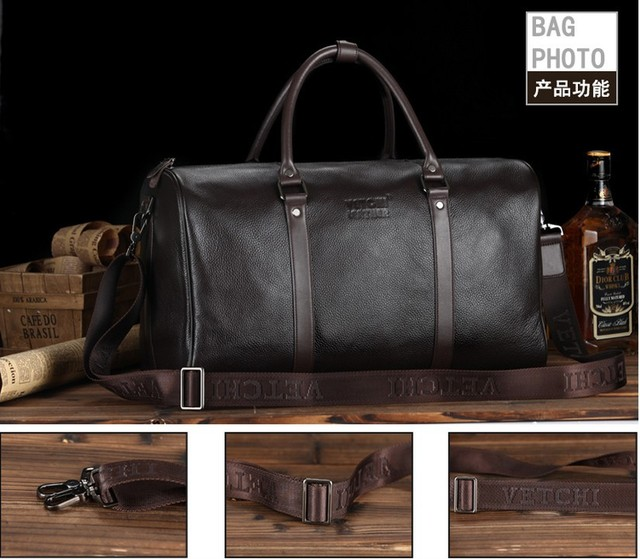 28c6d43d8ee7 Ali Victory 2017 new brand cowhide genuine leather man bag designer luggage  travel bags men s weekender bag items TB90
