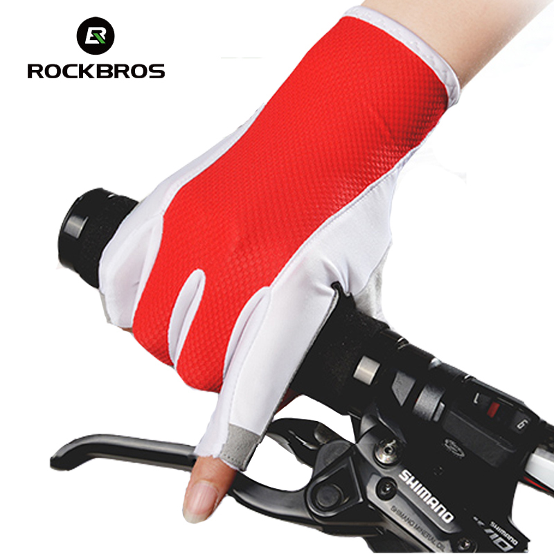 Rockbros Half Finger Cycling Gloves Women Summer MTB Road Bike Gloves Pro Gel Pad Downhill Bicycle Gloves Mittens Luva Ciclismo