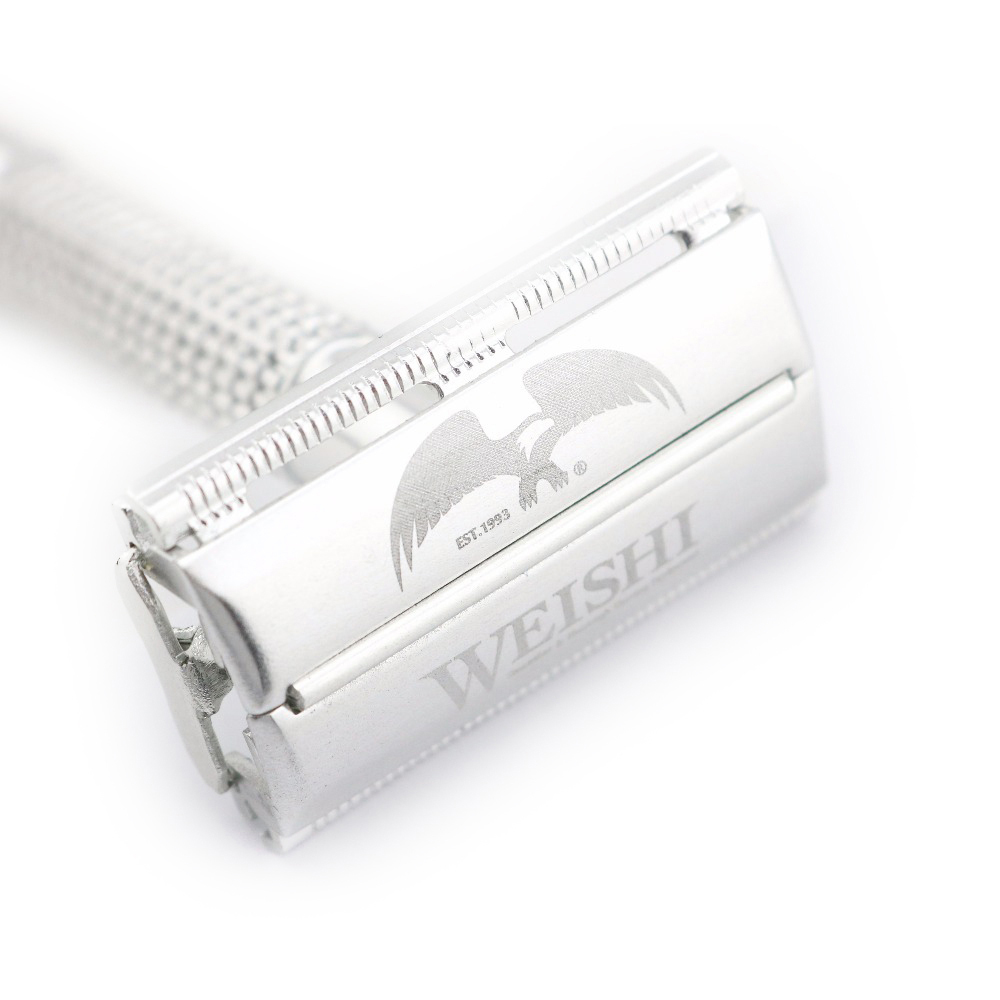WEISHI Double Edge Safety Razor Aluminum Alloy Electrified With Metal 2003-M Simple Packing 1 PCS/LOT NEW