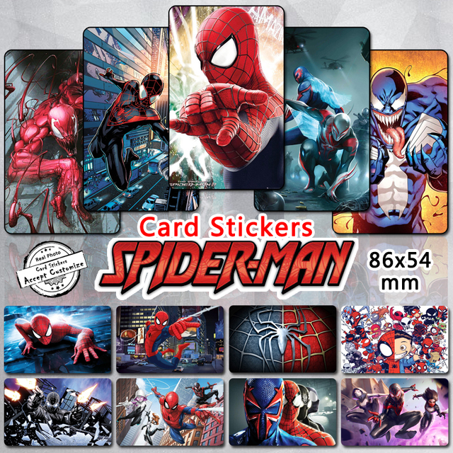 35pcs spider man series card stickers spider verse 2099 homecoming infinity war venom spiderman spidey