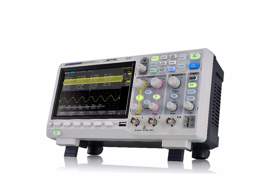 NEW! Siglent SDS1202X-E 200MHz digital oscilloscope Standard serial decode 2 Channels 7'' TFT-LCD 1GSa/s Sampling FREE SHIPPING  осциллограф siglent sds1152cml 2 150 1 sa