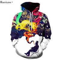 Men/Women Long Sleeve Autumn Winter Pullovers Funny Print Smoking Person Hoody Casual Hoodies With Cap Pullover Tops BIANYILONG