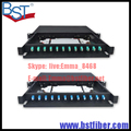 Completo com 19 polegada tipo LC 12 portas 24 Gaveta núcleo caixa de terminais de fibra óptica 12 portas tipo Puxar repartidor patch painel