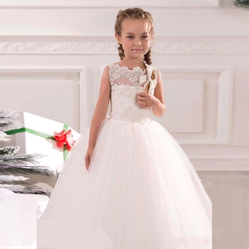 2019 New Arrival Beaded Ball Gown   Girls   Lace Ruffles   Flower     Girl     Dress   Prom Pageant   Dresses     Flower     Girl   Junior Bridesmaid   Dress