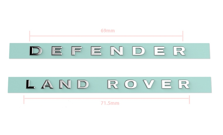 Free shipping 1 pair TRX4 Defender Metal Logo Label Sticker for 1/10 1/8 RC Crawler Traxxas TRX-4 rover RC4WD D90 D110 Brand New