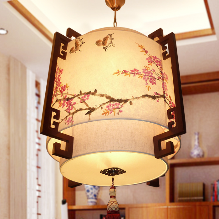 Traditional Chinese Painting Pendant Light Style Sheepskin Lamps Clical Lighting Restaurant Lamp 3029