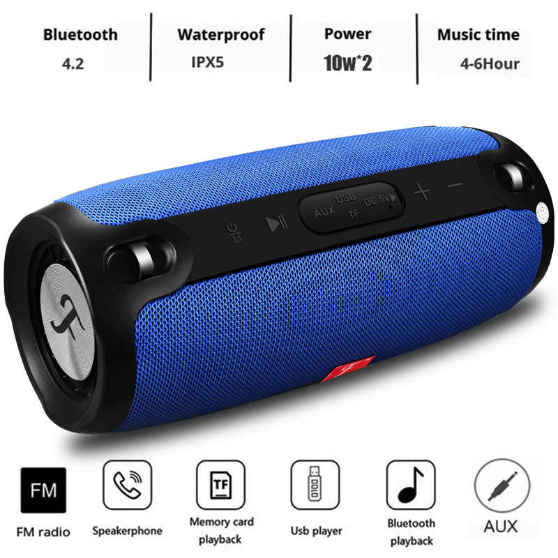 Bluetooth Speaker Kolom Wireless Portable Kotak Suara 20 W Stereo Subwoofer FM Radio BOOMBOX TV TF AUX USB PC Suara bar untuk Xiaomi