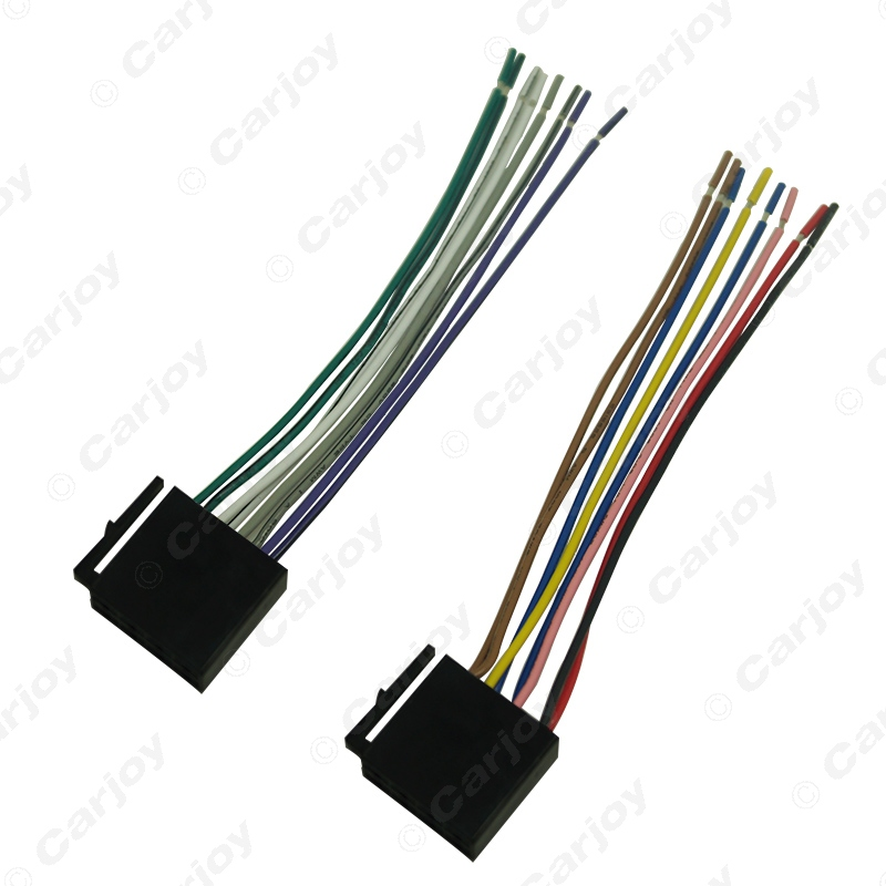 Universal Male ISO Radio Wire Cable Wiring Harness Car Stereo Adapter Connector Adaptor Plug For Volkswagen aliexpress com buy universal male iso radio wire cable wiring universal wiring harness connector at soozxer.org