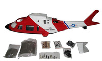 Agosta A109 500 Size A 109 Scale Fiber Glass Fuselage With Retract System Coast Guard For