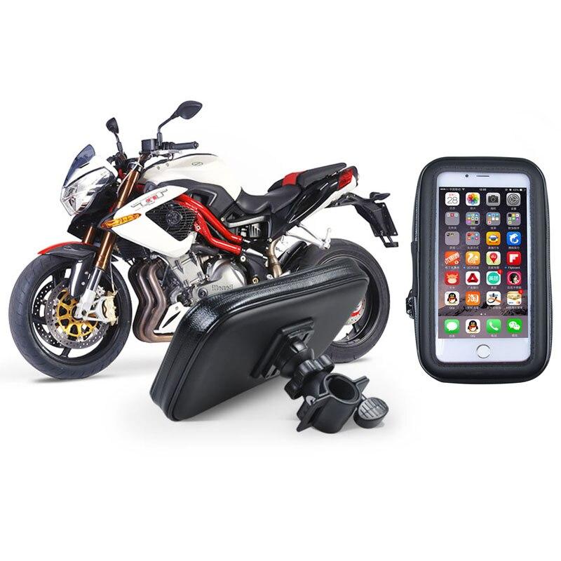 Soporte para teléfono universal de la motocicleta impermeable de gran tamaño de
