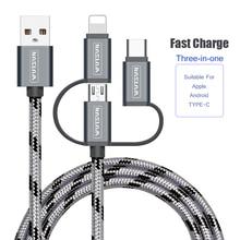 SB ケーブル充電充電器 3 1 マイクロ USB ケーブルで USB TypeC 携帯電話サムスンギャラクシー S9 iphone 6 7 8 XS ×