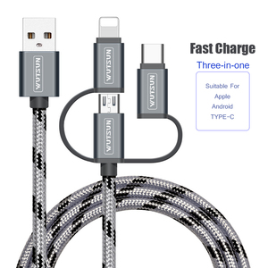 Image 1 - SB Cable Charging Charger 3 in 1 Micro USB Cable For Android USB TypeC Mobile Phone Cables For Samsung S9 For iPhone 6 7 8 XS X
