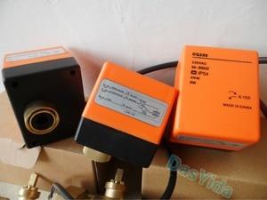 "Image 5 - ไฟฟ้า actuator มอเตอร์วาล์วบอลวาล์วทองเหลือง AC220V DN15 (G1/2 "") DN50 (G2"") 2 way 3 สายควบคุมอัตโนมัติ shut   off valve"